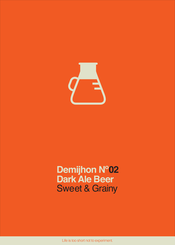 Demijhon No. 02 Beer, Ifat Zexer #beer #iconography #icon #chemistry #logo #experiment