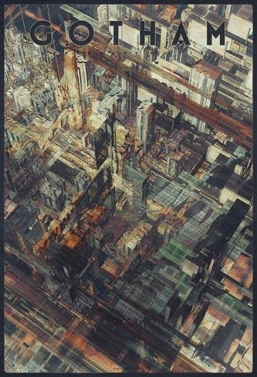 The Collective Loop #atelier #gotham #city #poster #olschinsky