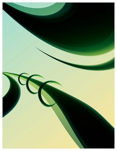 Visions | Part II of II on the Behance Network #abstract #vector #derek #vision #gangi #highway #green