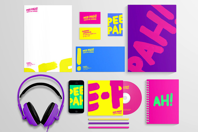 Pee-Pah Stationery #branding #business #stationery #letterhead #cards #typography