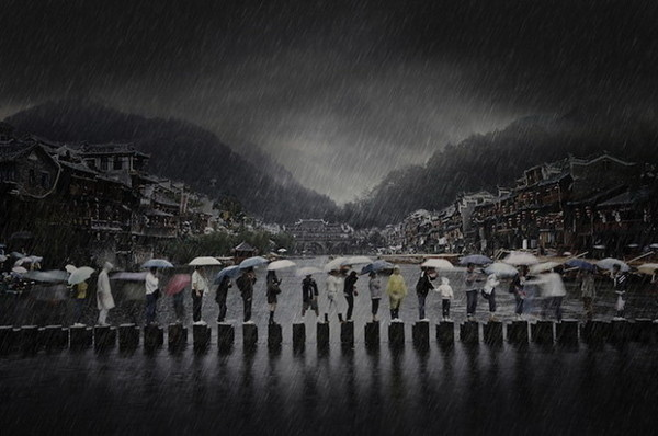 Rain in an Ancient Town #inspiration #creative #photography