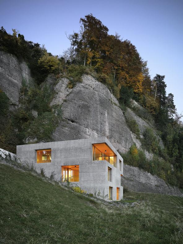 Holiday Home in Vitznau by Lischer Partner Architekten Planer #cement #architecture #house #modern