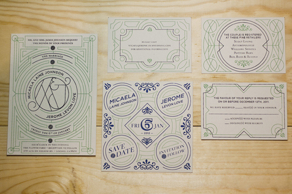 Love Wedding Invitation, Benjamin Della Rosa #invite #wedding #invitation