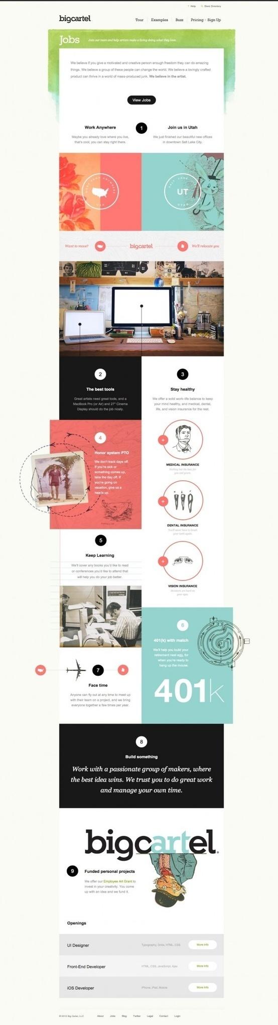 bigcartel web design #block #design #web #color