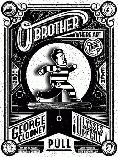 OBrother_GIF_website2.gif (500×666) #movie #white #black #illustration #poster #and