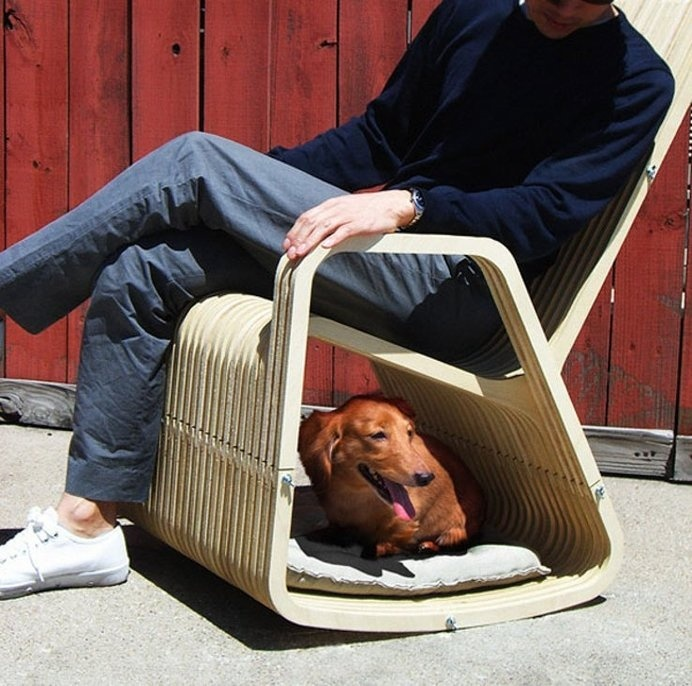 The chair for pet owners and rocking chair lovers. #rocking #modern #chair #design #home #product #furniture #industrial #style