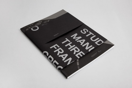 Graphic-ExchanGE - a selection of graphic projects #silver #black #brochure