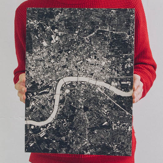 #map #poster #london