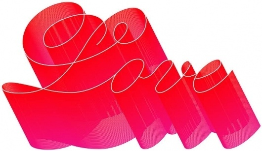 Love #lettering #script #red #love #typography
