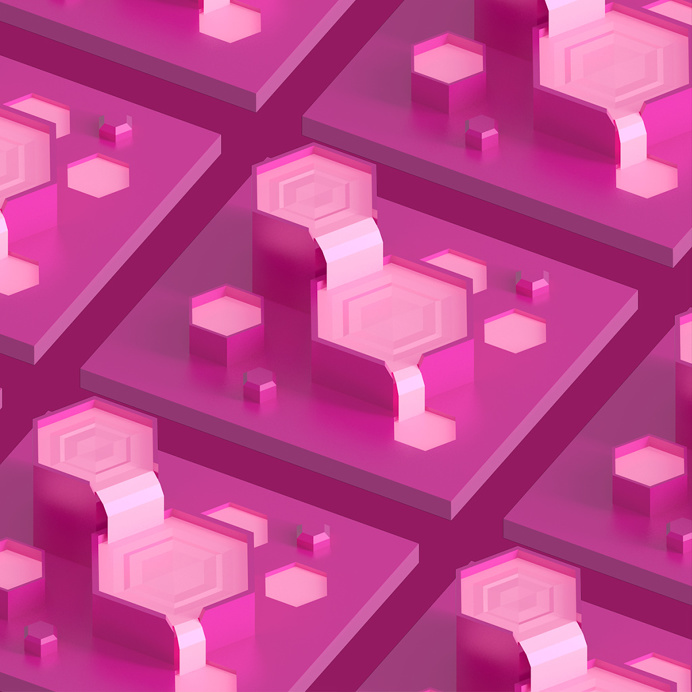 #beatracer #lilasoft #isometric #pink #jmchoe #hexagon