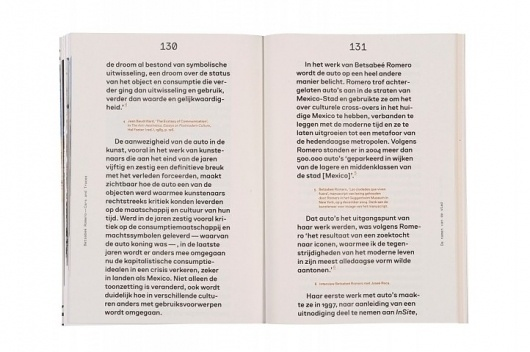 Betsabeé Romero. Cars and Traces - The Best Dutch Book Designs #spread #dutch #book #typography