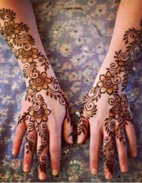 Floral Pattern Mehndi Design Ideas