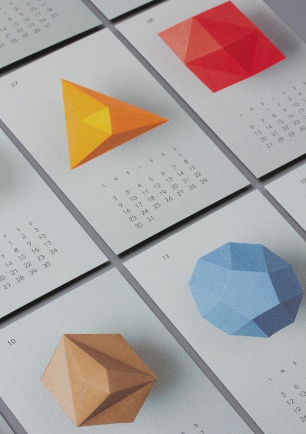 2012 Lo Siento calendar #print #calendar #losiento #polygons