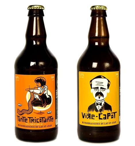 Microbrasserie du Lac St-Jean #packaging #beer #label #bottle