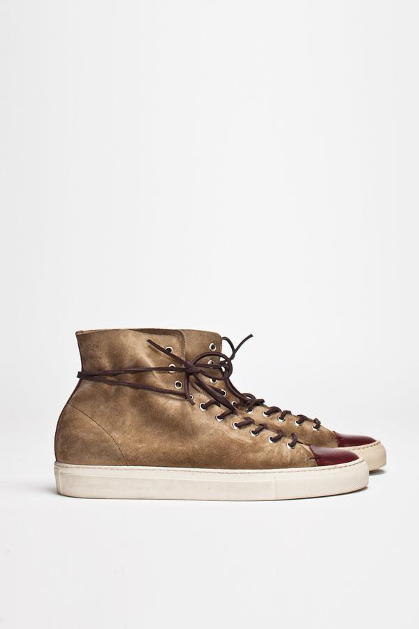 Buttero Tanino High Suede Beige | TRÈS BIEN #shoes #italian #sneakers #leather #buttero