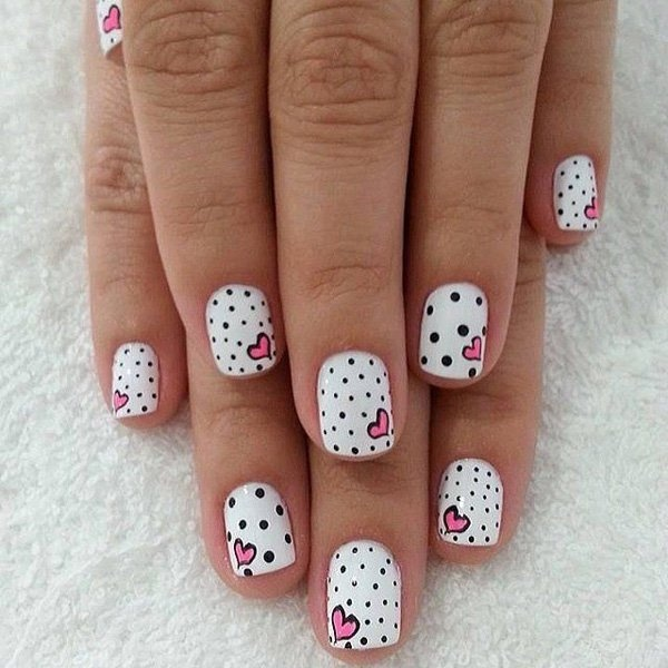 Best Nail Designs Heart 70 images on Designspiration