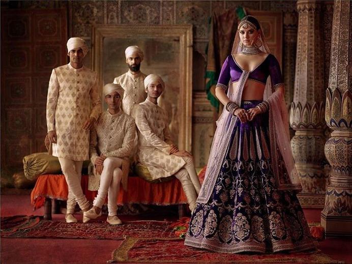 Shinny Purple Bridal Lehenga