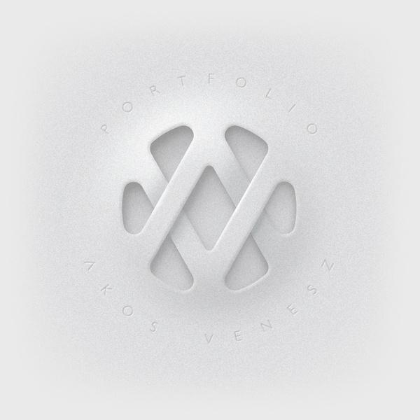 AV logo by Akos Venesz in Collection of 40+ Logos for Inspiration #logo #design