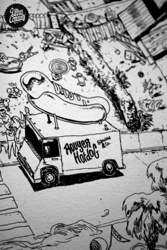 Editions Copains in defringe.com #copains #editions #defringe #illustration #drawing #sketch