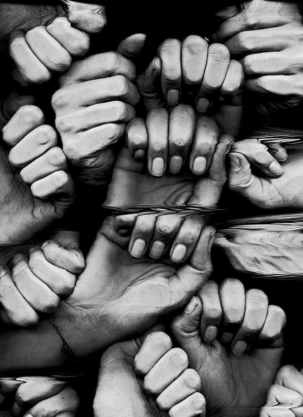 The Glitch and Some Veggies Elif Sanem karakoç #white #hands #crowd #black #fingers #human #photography #and #nails