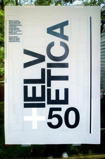 Blanka || Supersize #50 #build #of #years #poster #helvetica