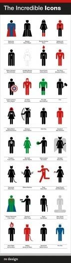 The Incredible Icons « re:blog #minimalist #interpretation #icons #superhero