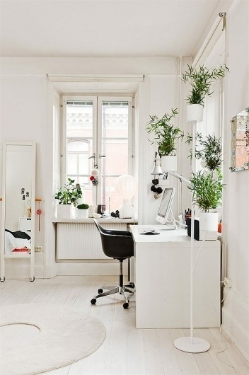 Workspace Inspiration #interior #white #design #minimal #workspace