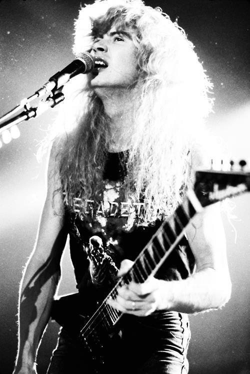 jaymzlover: His face *-* #metal #mustain #megadeth