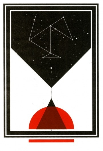 Hidden History on the Behance Network #red #sky #shapes #graphic #black #constellations