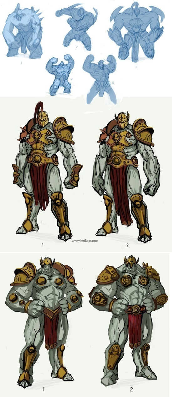 Golem Valor - Concept art #fantasy #golem #illustration #concept #magic #monster #character