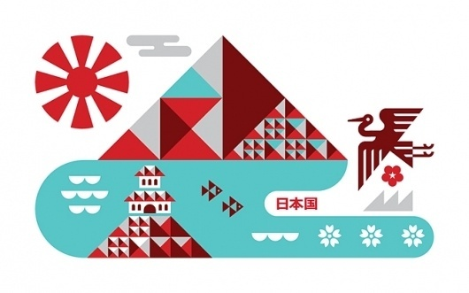 Ty Wilkins #red #illustration #ty #blue #japan #wilkins