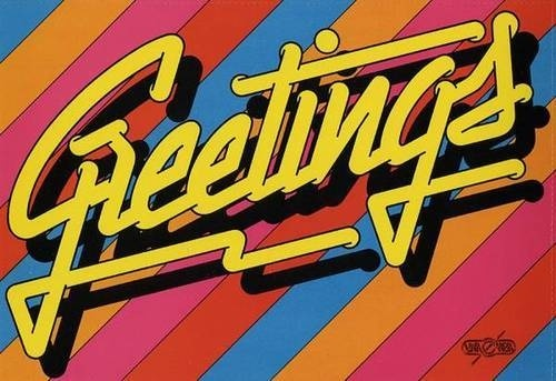 Typeverything.comPop messages, n° 12 from 1979 by Jean Larcher.(via @presentcorrect) #greetings