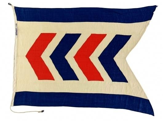 House flag, Strick Line Ltd - National Maritime Museum #flag #chevron