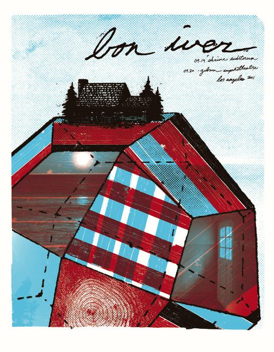 Boss Construction - Bon Iver 2 #gig #screenprint #poster