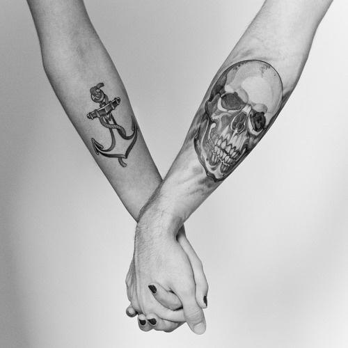 Junk of the heart #ink #illustration #tattoo #anchor #skull