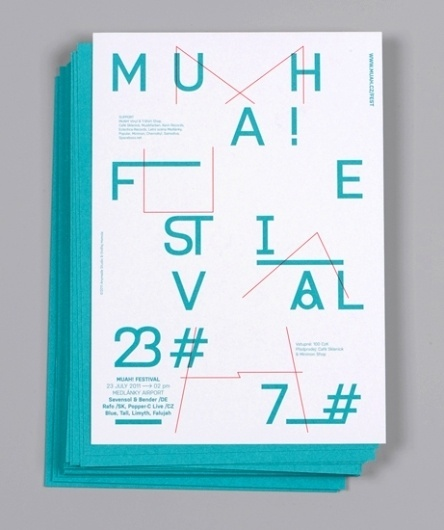 Anymade Studio: Muah! Festival #anymade #generative #typography