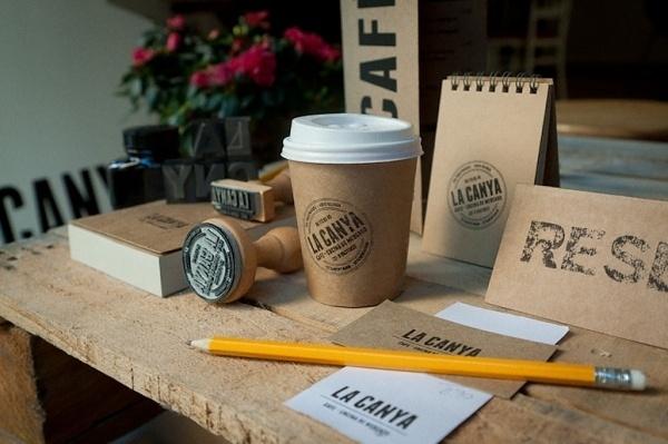 FPO: LA CANYA Branding #paper #stamp #kraft #branding