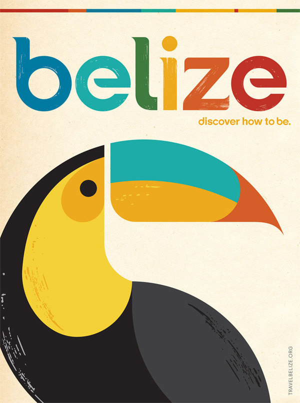 Belize #belize #geometry #redesign #geometric #illustration #minimal #toucan