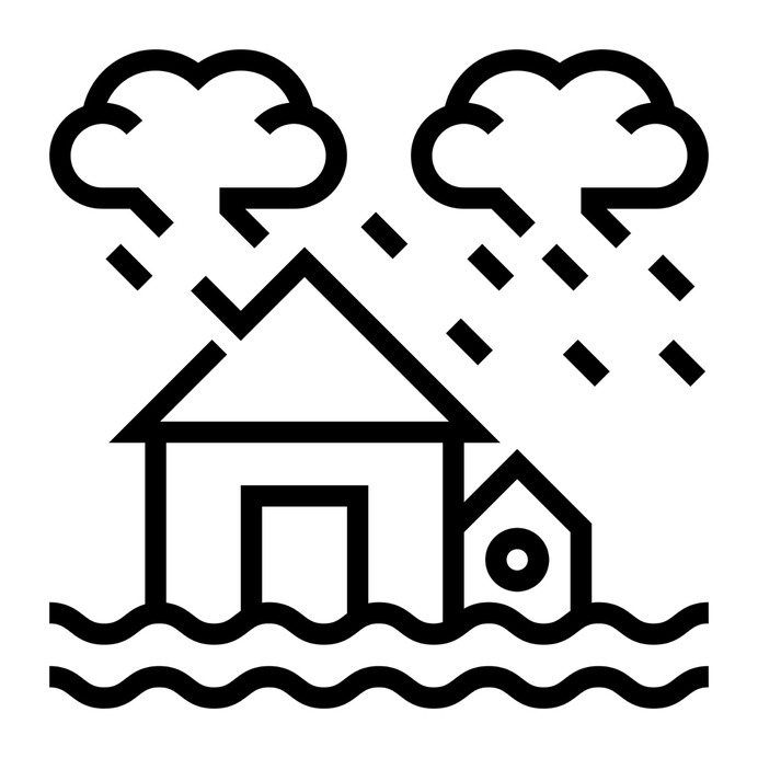 See more icon inspiration related to flood, storm, water, ecology and environment, flooded house, floods, flooded, insurance, sea level, waves, house, home, security and weather on Flaticon.