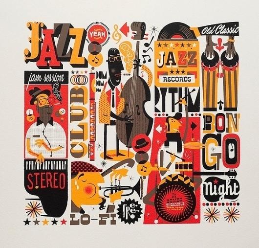Jazzgrafía on the Behance Network #music #jazz #print #poster