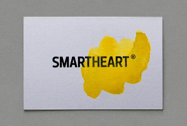 emotional logotype #heart #mart #business #emotion #logic #card #yellow #watercolor