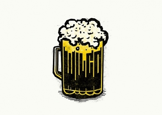 Logo / Identity - Mikey Burton / Designy Illustration #beer #cheers