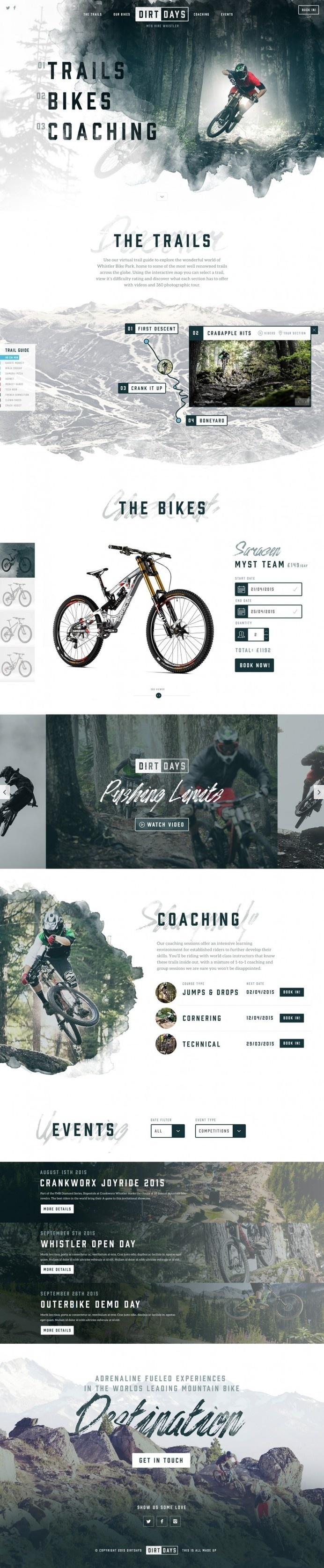 Dirtdays Website Concept #design #web #ux #ui