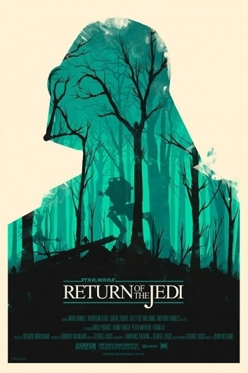 Olly-Moss-Return-of-Jedi-550x825.jpg (550×825) #star #movie #wars #poster
