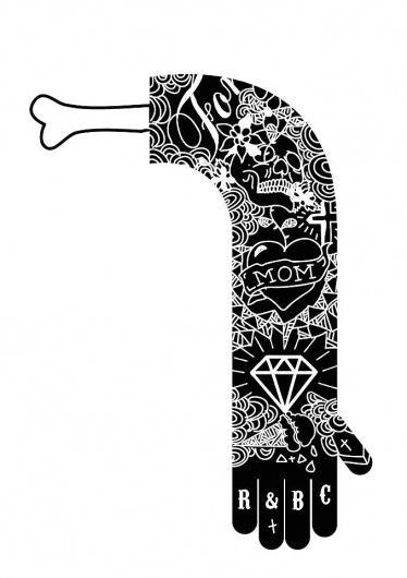 Lucas Jubb #white #black #illustration #arms #tattoos #drawing