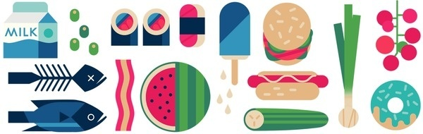 These are images and assets I created for a Benecol advert I made with Mother London & Vector Meldrew #illustration #food