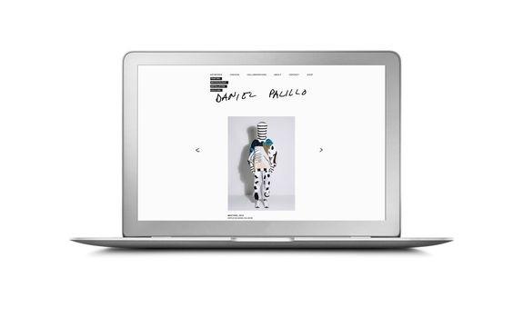 Daniel Palillo website. Design Tony Eräpuro