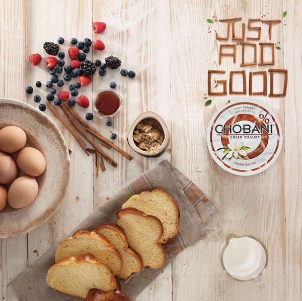 // Chobani 'Just Add Good' #food #typography