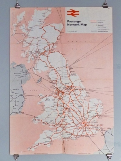WANKEN - The Blog of Shelby White » 1968 British Railway Passenger Network map