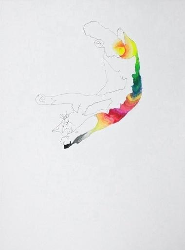 Daniel Gumbert #cat #colour #art #rainbow #drawing
